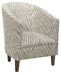 Ashlee Barrel Chair Gray Zebra Campden redo Pinterest