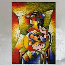 100 Hand Painted Oil Painting On Canvas Famous Artist Picasso Abstract Beautiful Woman Wall Art Decoration Picture In Calligraphy From