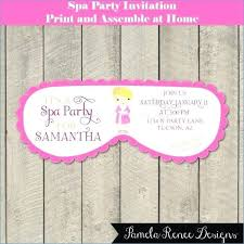 Of Spa Mask Invitation Template Pamper Party Invite