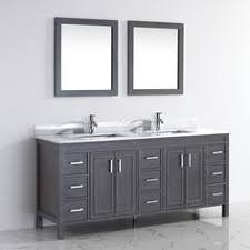 Rustic Traditional Bathroom Vanity Kalize 36 French Gray finish