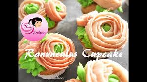Beautiful Ranunculus Cupcakes Ranunkel Cupcake Banh Bong Cao Luong