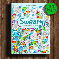 Sweary Coloring Book Digital Download 30 PagesSwear Words