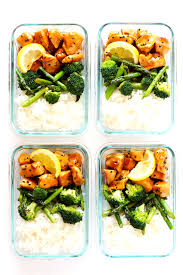 These Honey Lemon Chicken Bowls Are One Of My Favorite Healthy Lunch Or Dinner Meal Prep