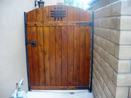 Pedestrian Side Gate With Designs Including A Speak Easy Ring Pull Lever