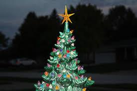 Vintage Atlantic Mold Ceramic Christmas Tree by Vintage 1974 Atlantic Mold 23 U201d Ceramic Christmas Tree U0026 Star Ebay