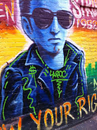 Joe Strummer Mural London Address by Ev Grieve The Wrong Profile Joe Strummer Gets Tagged