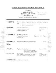 High School Student Resume With No Work Experience Objective On Examples