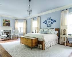 Elegant Blue And White Bedroom