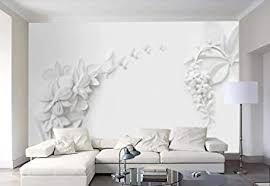 fototapete 3d tapeten moderne minimalistische weiße blume