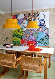 Vibrant And Colorful Dining Room Wall Art Ideas