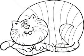Fat Cat For Coloring Book Vector Illustration C Igor Zakowski Izakowski 1016275