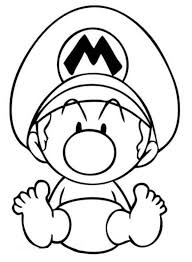 Baby Mario Coloring Pages 600x818 Print
