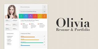 Olivia - Resume And Portfolio WordPress Theme | Codester 70 Welldesigned Resume Examples For Your Inspiration Piktochart Innovative Graphic Design Cv And Portfolio Tips Just Creative Resumedojo Html Premium Theme By Themesdojo Job Word Template Vsual Diamond Resumecv 3 Piece 4 Color Cover Letter Ya Free Download 56 Career Picture 50 Spiring Resume Designs And What You Can Learn From Them Learn