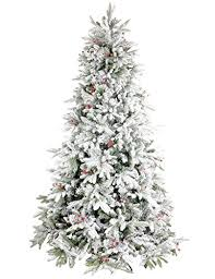 GuShuStore Flocked Christmas Tree Full Prelit