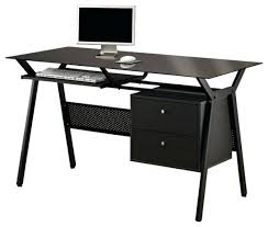 Glass And Metal Corner Computer Desk White by Desk Wood And Metal Corner Computer Desk Modern Glass Metal