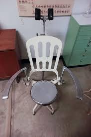 Antique 1920s Art Deco Industrial Metal Dental Chair at 1stdibs