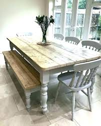 Farmhouse Kitchen Table Country With Bench Dining Chairs