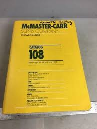 MCMASTER CARR CATALOG 108 Great Reference Book