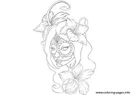 Girl Skull Tattoo Coloring Page Pages