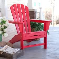 Patio Furniture With Hidden Ottoman polywood recycled plastic big daddy adirondack chair with pull