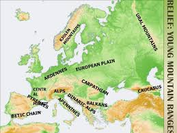 mountain ranges of europe physical europe ppt