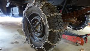 Installing Snow Tire Chains - Heavy Duty Cleated V-bar Chains On My ...