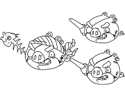 Angry Birds Coloring Pages Free To Print Book Walmart Epic Page Pirate Pigs Printable Full