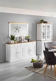 set sideboard spiegel buffet eiche massiv landhaus montiert esszimmer vintage lanatura