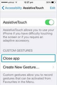 How to Add remove Delete custom gesture in iPhone iPad iOS 10