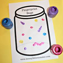 Fingerprint Bug Jar Craft For Kids With Free Printable A Fun And Easy