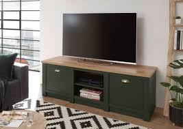 lowboard cambridge 152cm grün wotan eiche tv schrank wohnzimmer modern