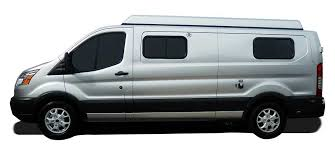 Side View Of A Silver Ford Transit Van
