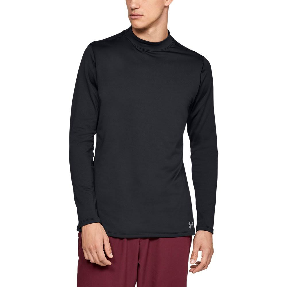 Men's Under Armour ColdGear Armour Mock, Fitted Black Large