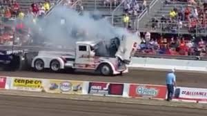 100 Central Ohio Truck Pullers Watch A Semitrucks Engine Explode Through The Top Of Its Bonnet