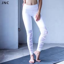 2017 New WhiteBlack Mesh Bandage Yoga Leggings For Women Workout Tights Ballet Infinity Turnout Legging