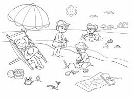 Ideas Of Printable Summer Colouring Pages With Sample