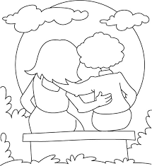 Free Printable Friendship Coloring Pages
