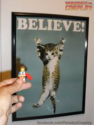 Zoom Believe Cat Poster