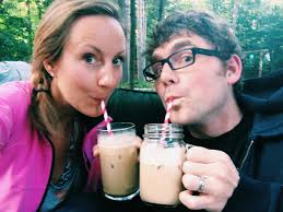 Man And Woman Drinking Iced Coffee