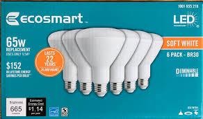 ecosmart led br30 soft white 2700k 665 lumens can flood light hommum