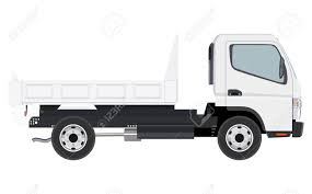 Small Truck Without Cargo On A White Background Royalty Free ...