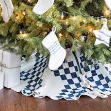 Upcyled Quilt Christmas Tree Skirt