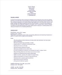 Sample Esthetician Resume Template