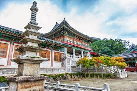 104 South Korean Architecture Traditional Old Building Or Monks Temple In Korea At Autumn Stock Photo Picture And Royalty Free Image Image 36957986