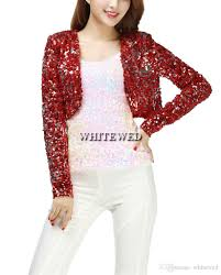 cheap sequin special occasion bolero evening entertainer stage