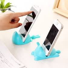 Universal Cat Shaped Silicone Cellphone Phone Mount Stand Mobile Holder Random Color
