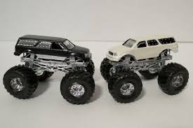 Lot Of 2 Escalade Monster Jam Hotwheels 1 64 Custom Trucks On PopScreen
