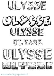 Coloriage Du Prénom Ulysse à Imprimer Ou Télécharger Facilement