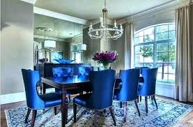 Navy Blue Dining Room Chairs Chair Covers Light