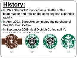 History In 1971 Starbucks Founded